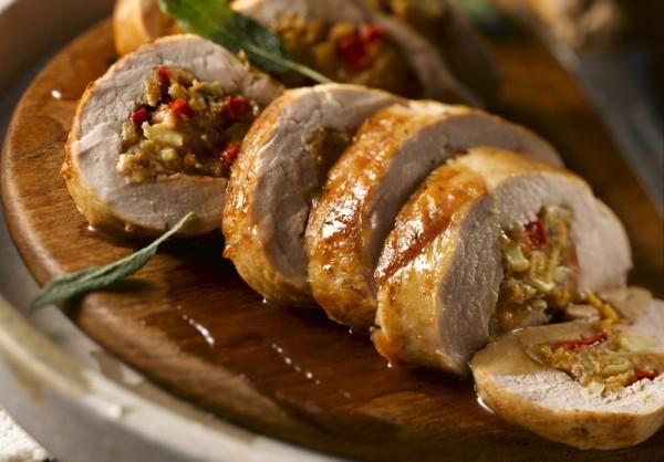 دجاج محشى بالمشروم والشامبنيون - وصفات أكل عربيه
