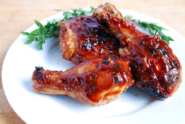 الدجاج المشوى بالصلصة الحمراء - وصفات أكل عربيه