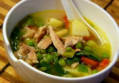 """شوربة الدجاج بالخضراوات """"من المطبخ السورى"""" - وصفات أكل عربيه"""