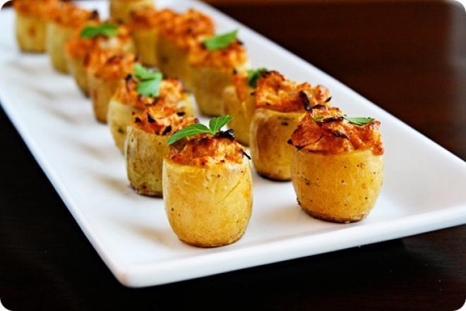 محشى البطاطس بخلطة اللحم والفلفل الملون - وصفات أكل عربيه