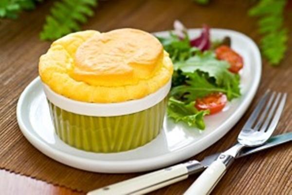 سوفليه الخبز بالجبن الشيدر - وصفات أكل عربيه