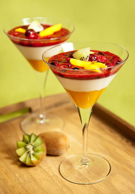 كوكتيل الفواكه بالكريمة والعسل - وصفات أكل عربيه