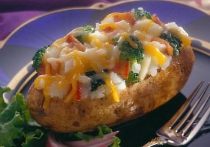 بطاطس محشية بالدجاج والفلفل الأخضر - وصفات أكل عربيه
