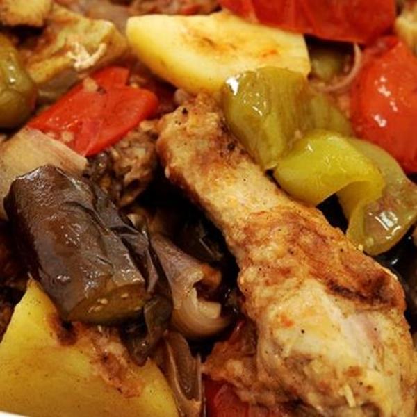 طاجن خضراوات بالدجاج من المطبخ التركى - وصفات أكل عربيه