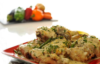 قطع الدجاج الحارة بالكزبرة الخضراء - وصفات أكل عربيه