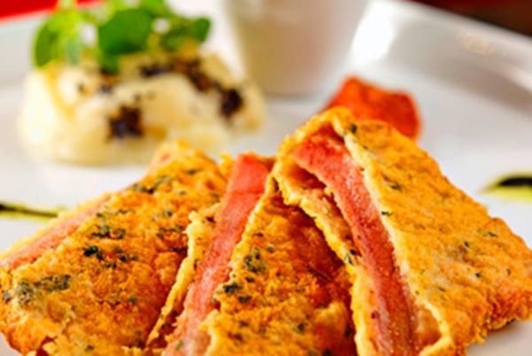 الاسكالوب اللذيذ بصدور الدجاج المقرمشة - وصفات أكل عربيه