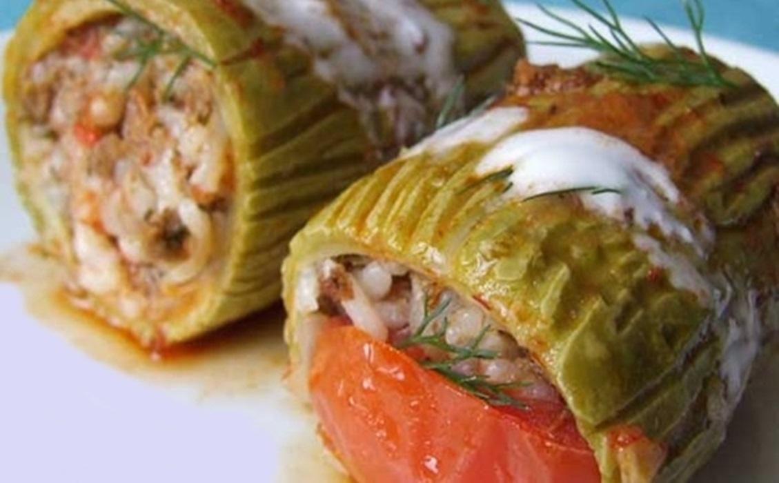 محشى الفلفل الرومى باللحم والزعتر - وصفات أكل عربيه