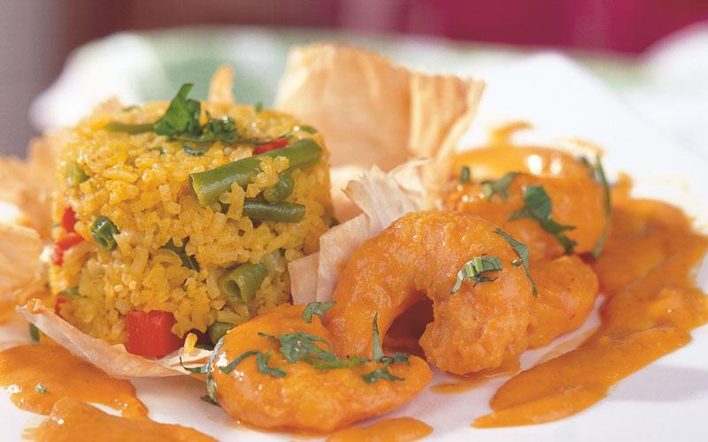 أرز بسمتى مع القريدس بتتبيلة الكارى الشهية - وصفات أكل عربيه