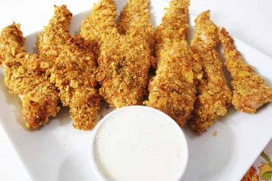 دجاج مقرمش بسعرات حرارية اقل - وصفات أكل عربيه