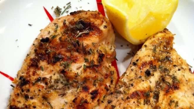 الدجاج المشوى والمتبل بالزعتر والليمون - وصفات أكل عربيه