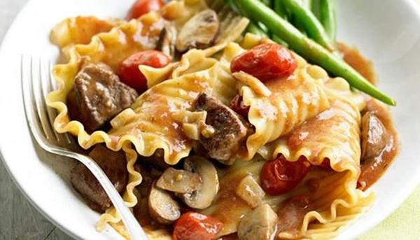 لازانيا باللحم والمشروم - وصفات أكل عربيه