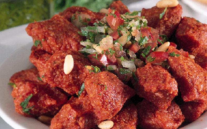 كبة اللحم الباردة بالبرغل - وصفات أكل عربيه