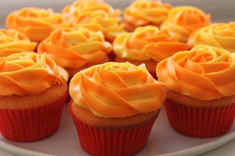 كب كيك بالكريمة والبرتقال - وصفات أكل عربيه