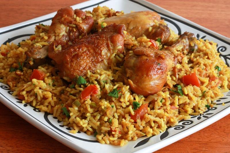 كبسة الدجاج بالتوابل والأعشاب - وصفات أكل عربيه