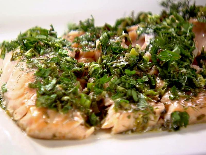 شرائح السمك المتبل بالأعشاب والخضراوات - وصفات أكل عربيه